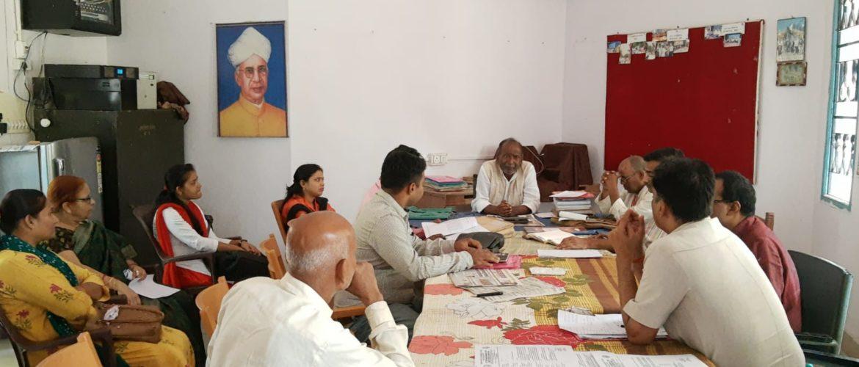 गांधी विचार विभाग में 42 वें वार्षिक सम्मेलन को लेकर हुयी समीक्षा बैठक
